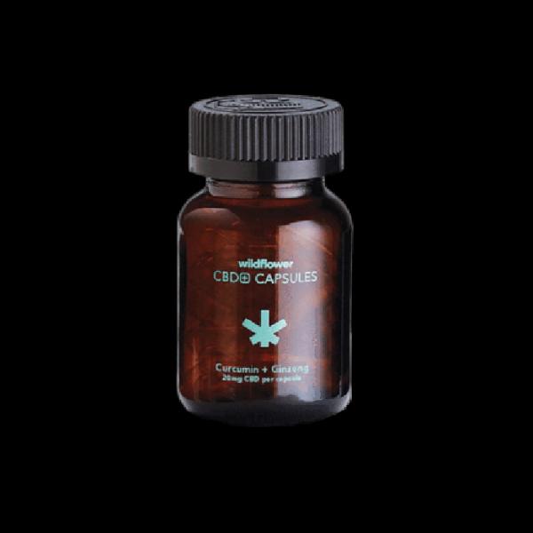 Wildflower - CBD Curcumin + Ginseng Capsules online