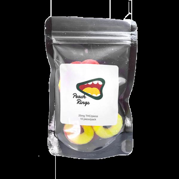 Buy 250mg THC – Peach Rings Gummy online